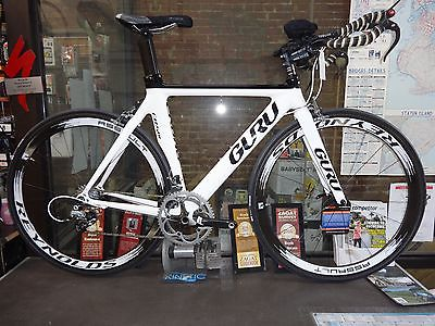 New Guru CR 501 52/ 53 cm size Tri TT Bicycle SRAM Force Easton EA90 Aero wheels