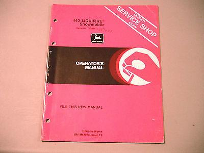 Vintage John Deere Liquifire 440 Snowmobile Operator's Manual