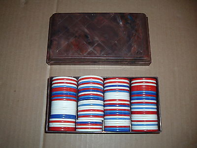 Old Vintage Poker Chips for Playing Cards
