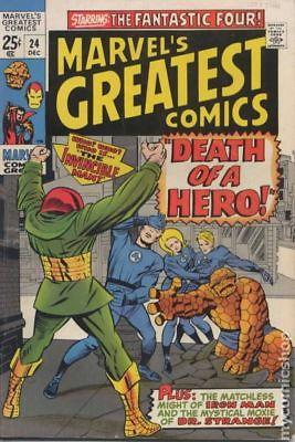 Marvel's Greatest Comics #24 1969 VG+ 4.5 Stock Image Low Grade