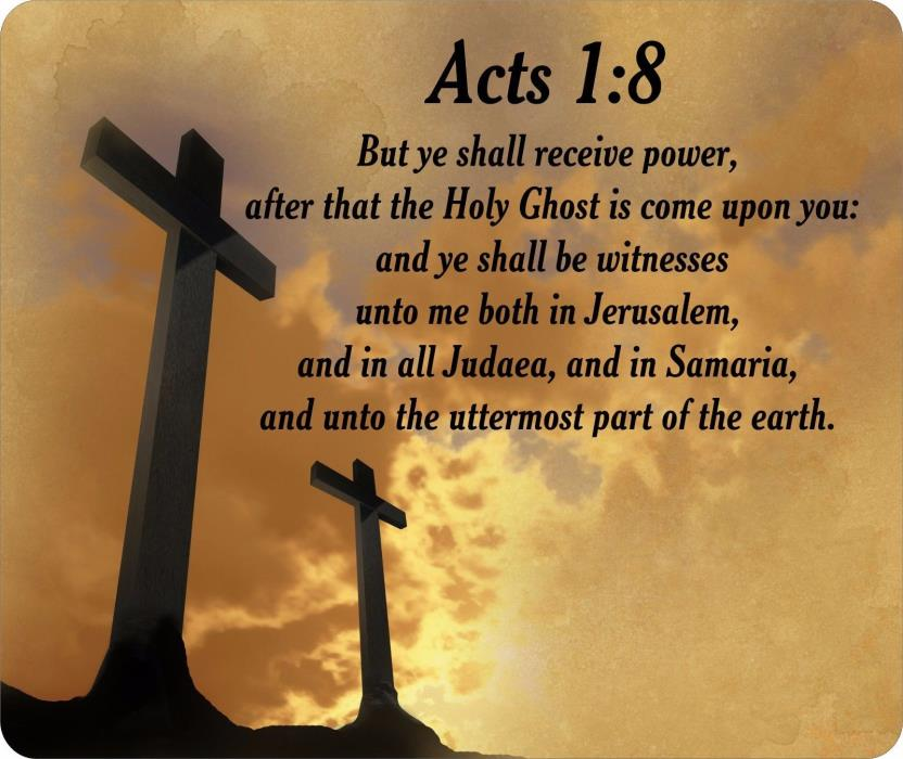 Religious Bible Verse Acts 1:8 Mouse Pad FREE SHIPPING