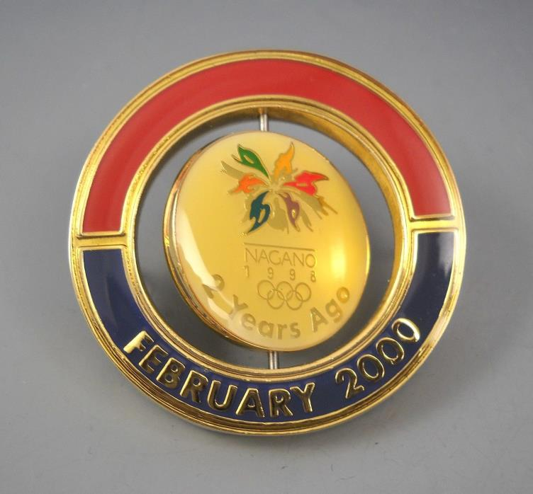 Salt Lake 2002 Nagano 2000 Olympics Limited Edition Collector's Pin 1/8000