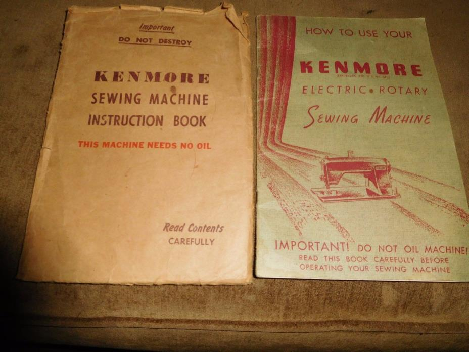 Sears Kenmore Electric Rotary Sewing Machine operating manual