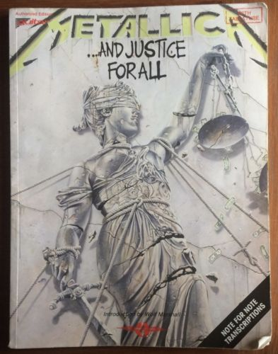 Metallica And Justice For All Songbook Note For Note Transcription