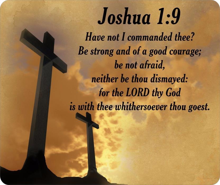Religious Bible Verse Joshua 1:9 Mouse Pad FREE SHIPPING
