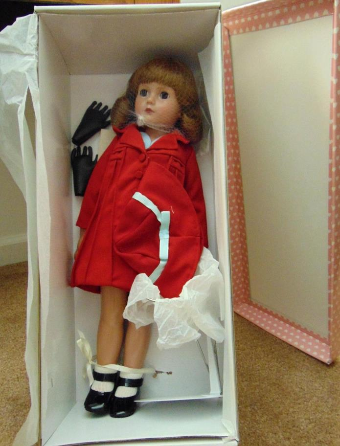 Effanbee Stamp Doll V611 American Child Girl Red Dress Hat Accessories NIB *mg