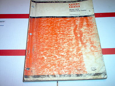 1470 Case Traction King Tractor Parts Catalog No D1110