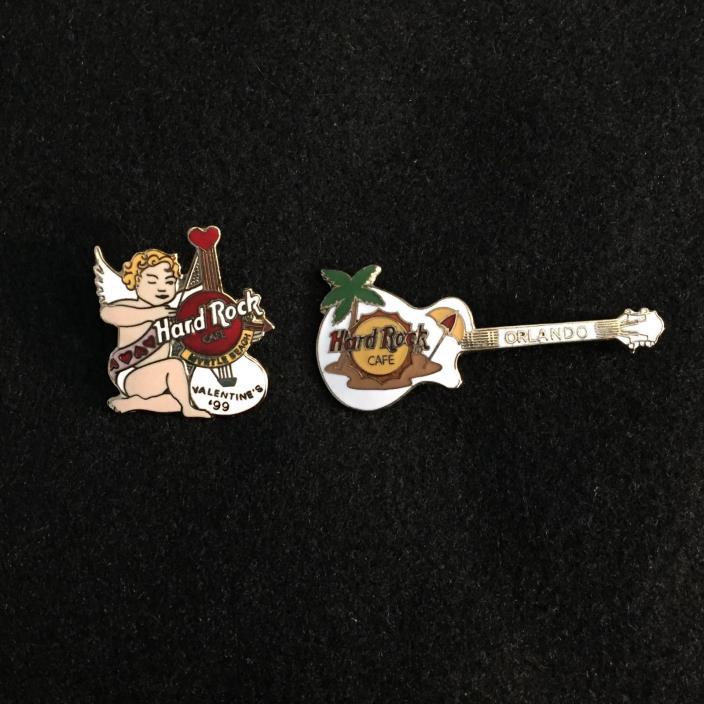 2 Hard Rock Cafe pins from MYRTLE BEACH & ORLANDO