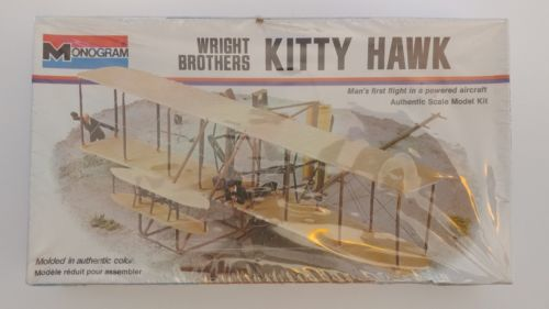 Vintage Monogram Wright Brothers Kitty Hawk Airplane Model Kit - Sealed