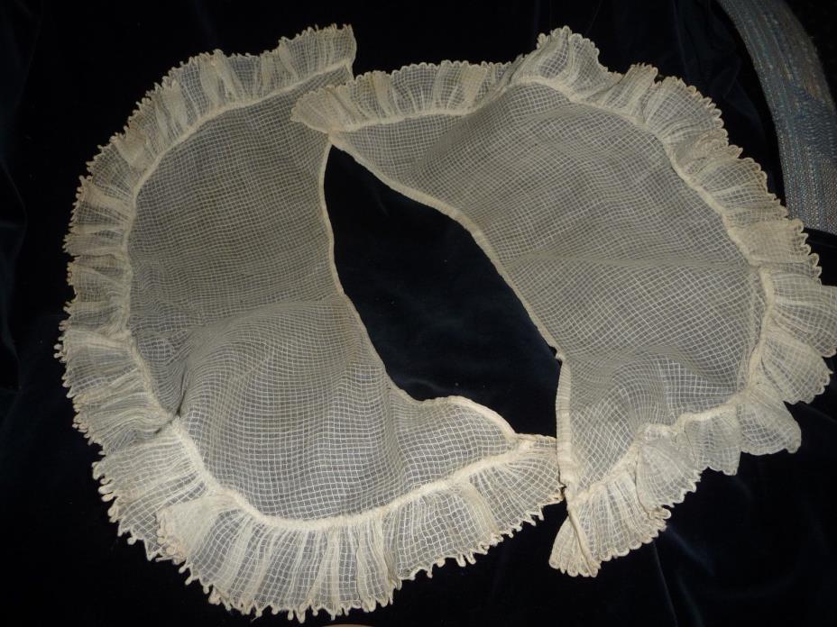 HOLMDEL NJ ESTATE Holmes Crawford Longstreet ANTIQUE White cotton DRESS COLLAR