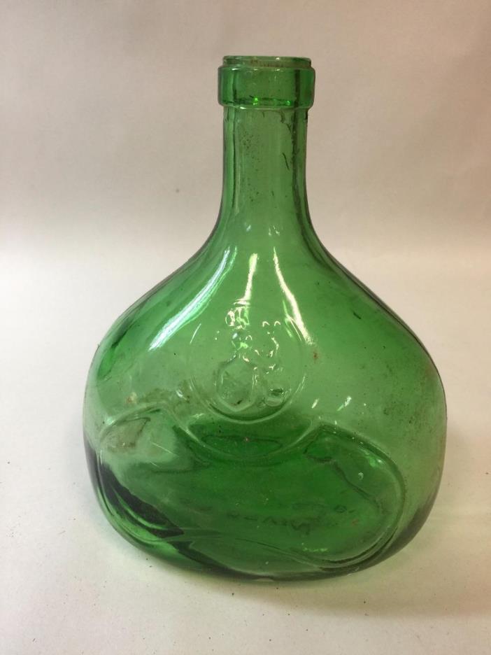 Vintage Green Glass Bottle SA ORVIN Made in Tarragona SPAIN Wine Bottle