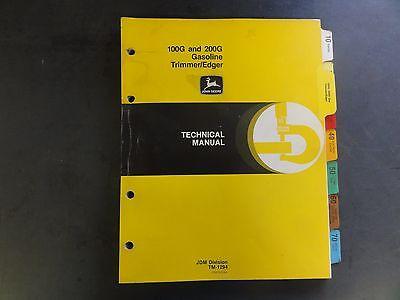 John Deere 100G and 200G Gasoline Trimmer/Edger Technical Manual  TM-1294