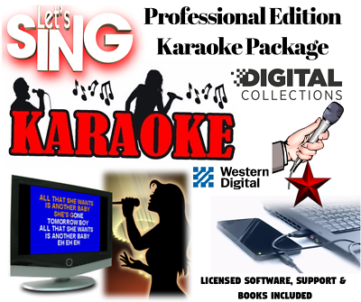 Professional Karaoke Collection - USB Hard Drive - Unlimited Updates