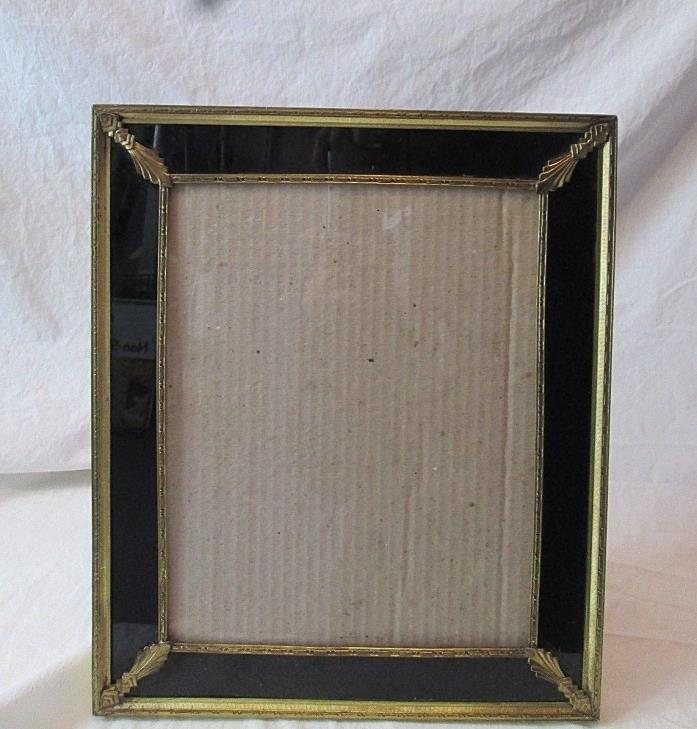 Vintage Art Deco Reverse Painted Picture Frame Easel Back/Wall Hang