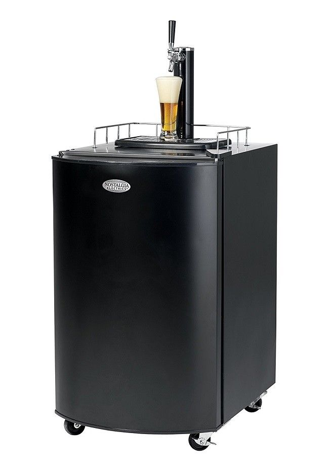 Beer Keg Fridge Nostalgia Electrics Kegorator Brew Tap Commercial Black