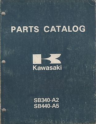 1981 KAWASAKI  SNOWMOBILE DRIFTER 340, 440  P/N 99960-3510 PARTS MANUAL (907)