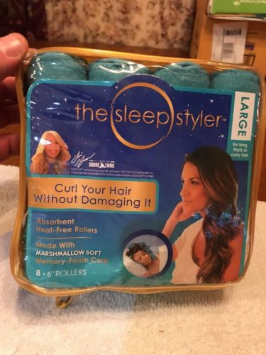 The Sleep Styler The heat-free Nighttime Hair Curler Includes 8 Large 6
