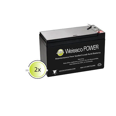 2-Pack-New-12V-7AH-Battery-RAZOR-Scooter-E300 E200 ES300 Bella Bet F2 terminal