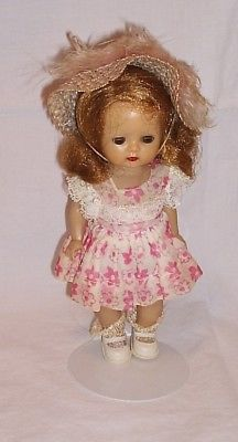 Muffie straight leg walker doll Nancy Ann 1955 all original outfit