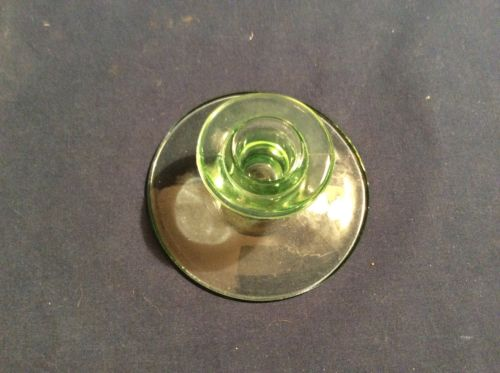 Vaseline Glass Candle Holder