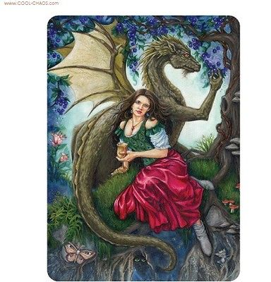 Grapes Dragon Vineyard Fairy Wine Sticker