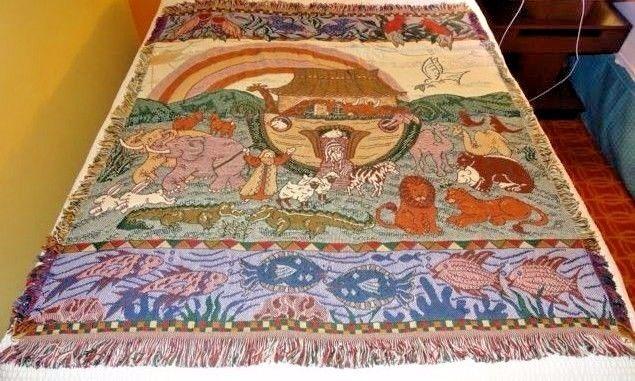 American Weavers Noah's Ark Throw Blanket 56
