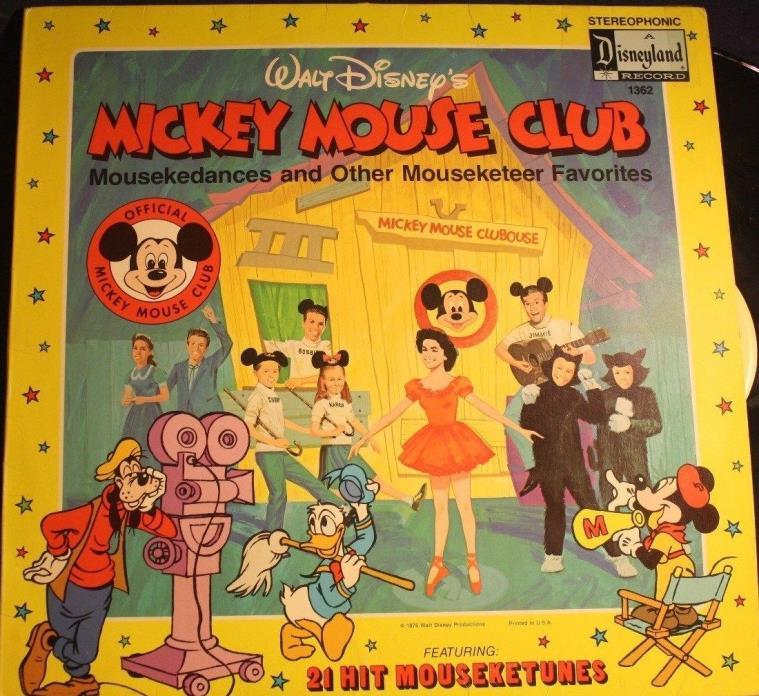 Vintage Vinyl LP Walt Disney's Mickey Mouse Club Record 1362 Mousekedances 1975
