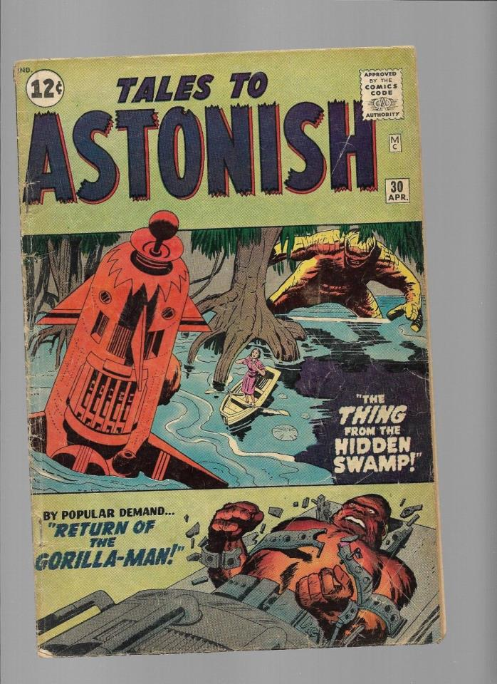Tales to Astonish 30 Apr 1962 VG- Gorilla-Man Quogg Thing from Hidden Swamp Jack