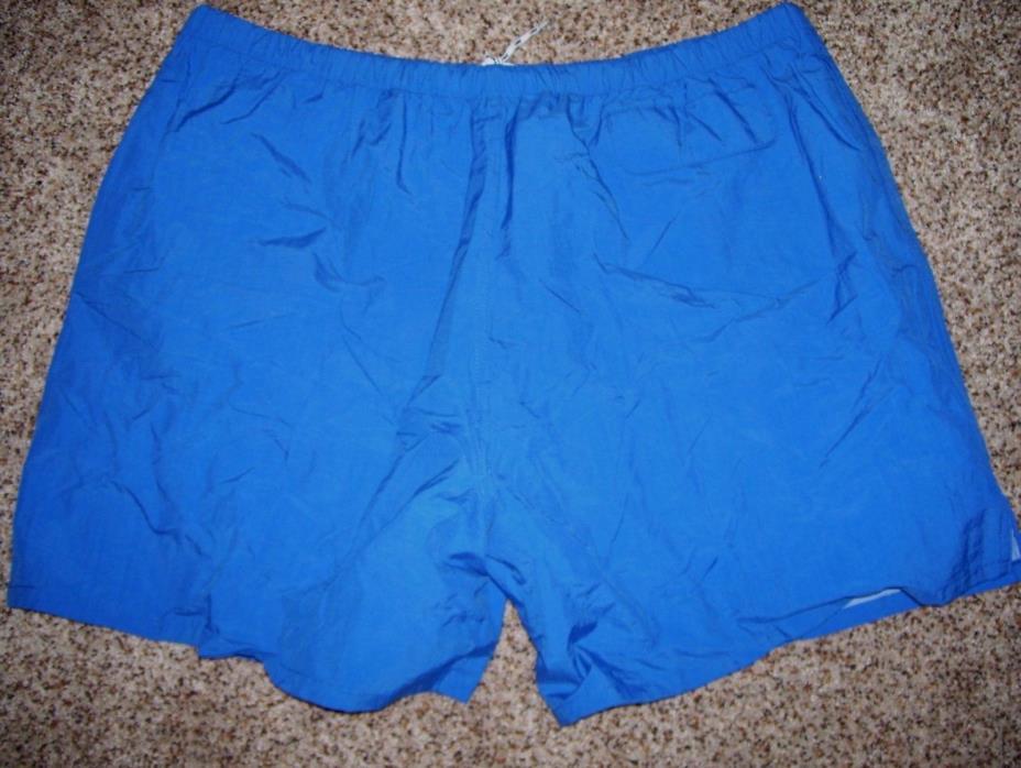 NWT London Fog Men Swim Trunks Size XXL Blue Nylon Shell Poly Mesh Lining #1