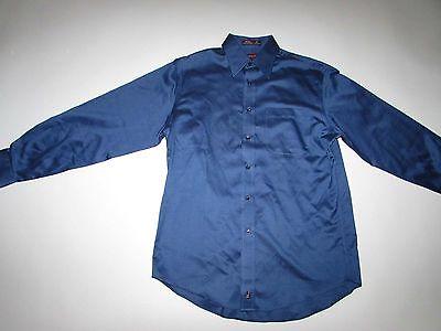 Nordstrom Men's Smartcare Dress Shirt Size 15 - 33 Blue Wrinkle Resistant LS