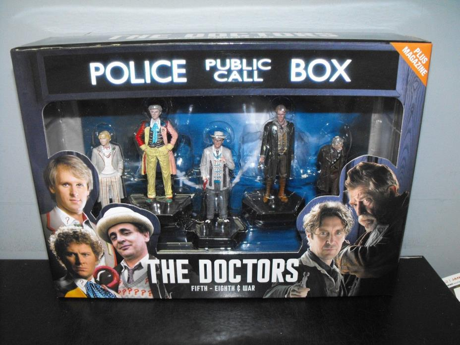 DOCTOR WHO THE DOCTORS FIFTH - EIGHTH & WAR FIGURE BOX SET