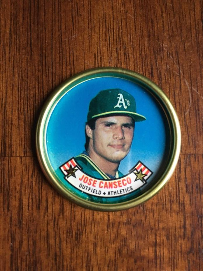 Topps MLB Baseball Metal Coin #7 Jose Canseco, AS SEEN IN THE PHOTOS.