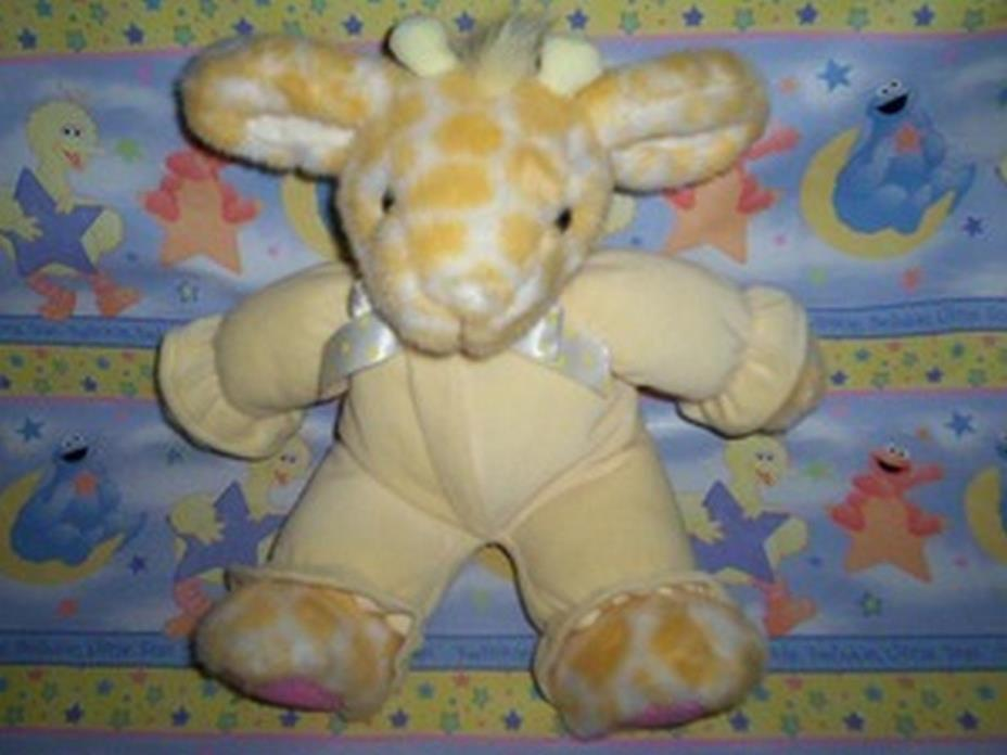 Russ  ~  KIDDY KUDDLES ... Yellow Giraffe w/Rattle  *  NEW From Our Retail Shop