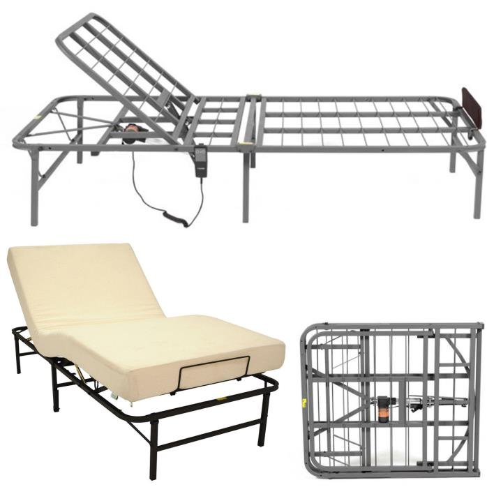 Adjustable Bed Frame Twin XL Head Electric Lift Remote Control Foundation Base