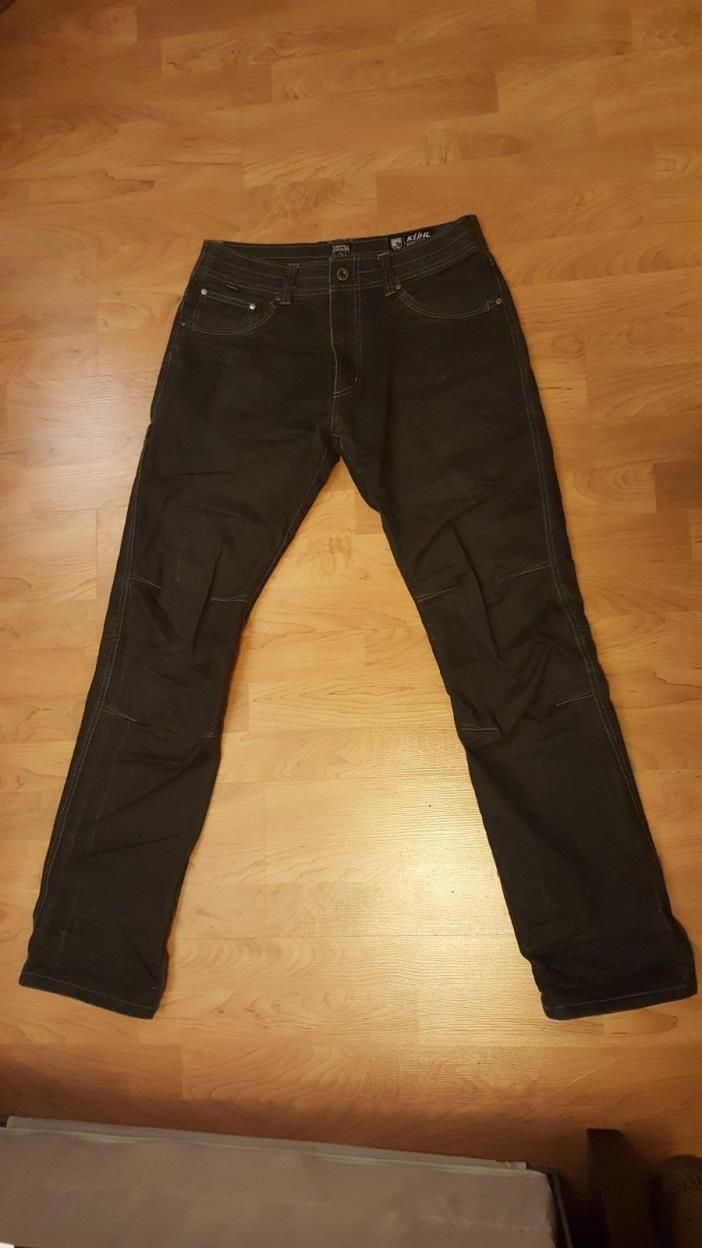 kuhl pants, 33X34, rydr lean, midnight blue, pre-owned, general wear impressions