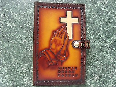 Medium Hand crafted leather Bible cover. Can be personalized.
