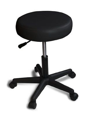 Rolling Adjustable Swivel Stool - Home, Office and Beauty (Black) New