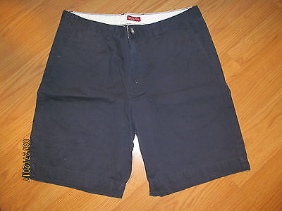 Men's Merona Flat Front Navy Blue Shorts Size 38 Great Condition