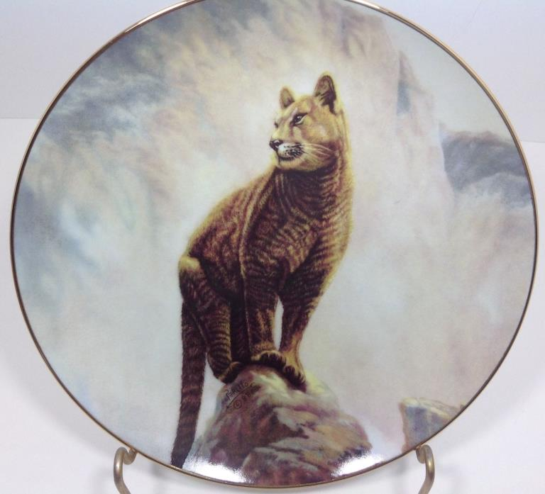 Perillo's N. American Wildlife Mountain Lion Hamilton Collection Plate