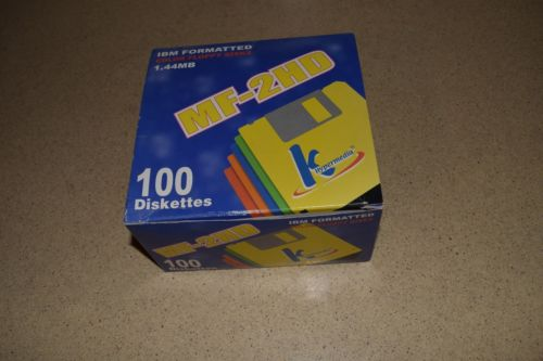 << HYPERMEDIA IBM FORMATTED COLOR FLOPPY DISKS 60 DISKETTES, MF2HD