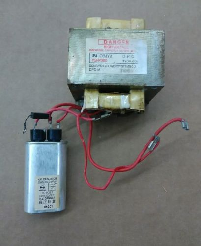 Microwave high voltage transformer & Capacitor  P/N: OBJY2 YS-P360 / HCH-222097B