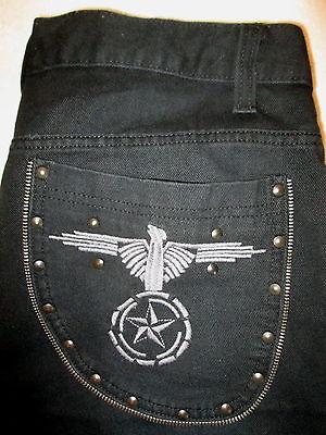 American Eagle Boot Cut Denim Mens Lt Blue Denim Jeans Size 28 x 28 destructed