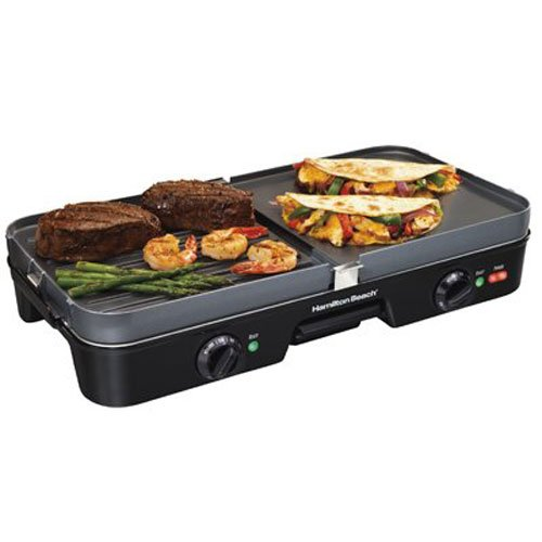 Reversible Grill Griddle Large Electric Combo Cooking Indoor Appliance Nonstick