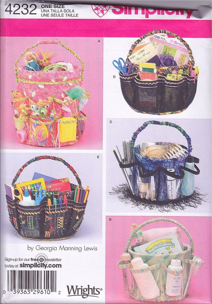 Simplicity 4232 Sewing Pattern Care Package Easter Baby Basket Organizer