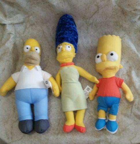 The Simpsons Nanco Plush Stuffed doll lot Homer Bart Marge
