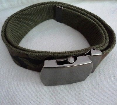 NWOT ADJUSTABLE UNISEX CAMO CAMOUFLAGE BELT APPROX. 28