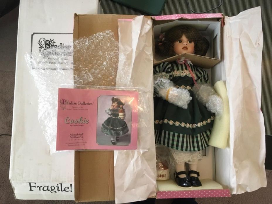 "Paradise Galleries Porcelain Doll "" Cookie """