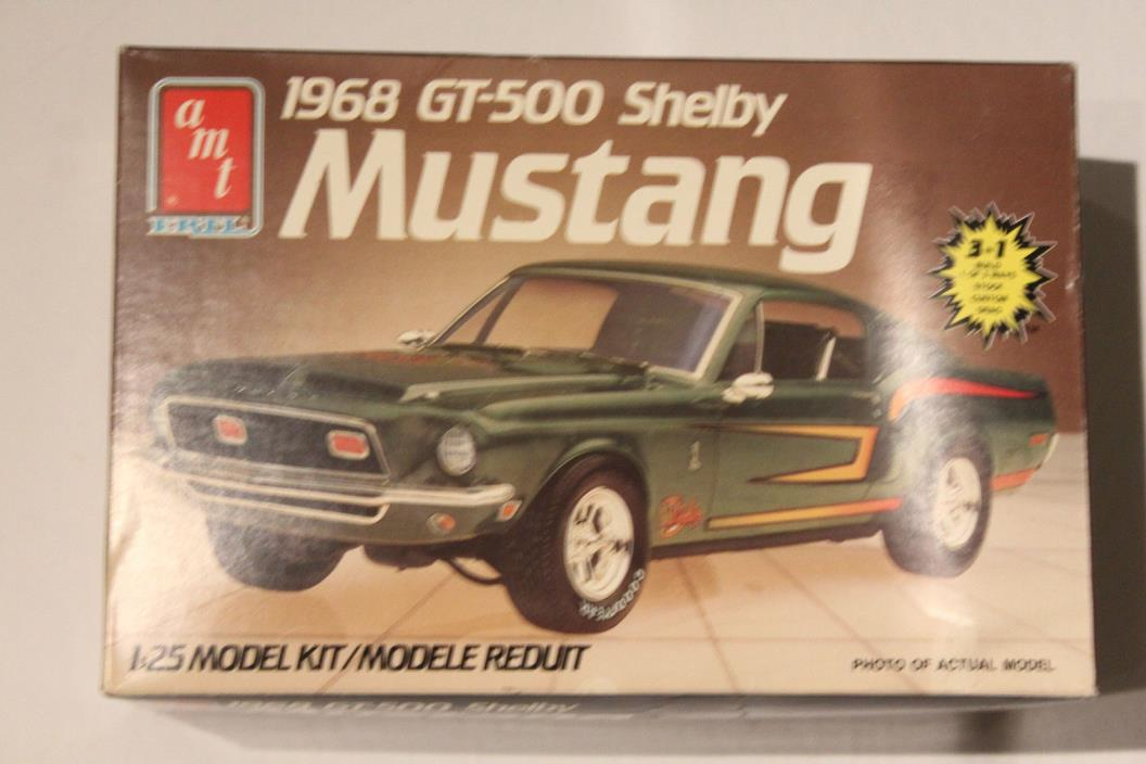 AMT 1968 FORD SHELBY MUSTANG GT-500 1/25 MODEL CAR 3n1 #6541 Open Box
