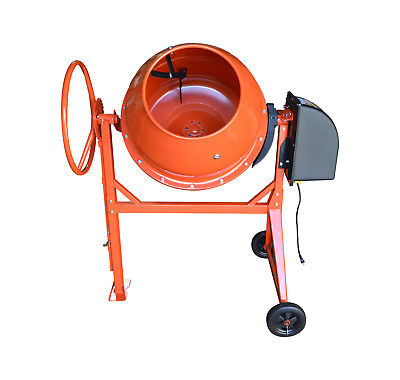 8.5 CU FT Electric Steel Stucco Concrete Cement Mixer 250L Stone Mixing Machine