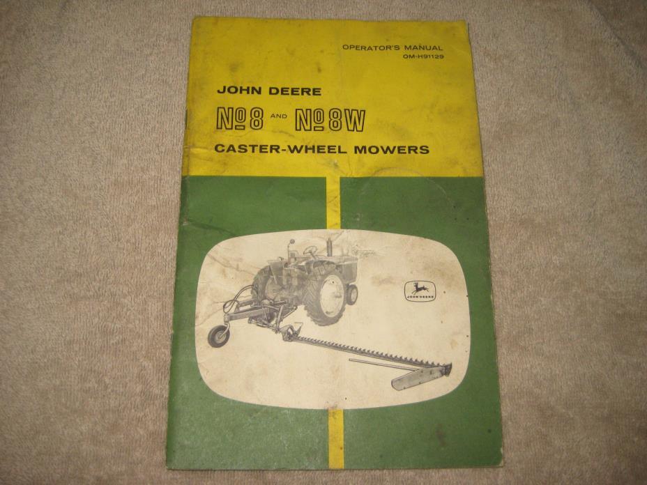 John Deere #8 Mower Operators Manual